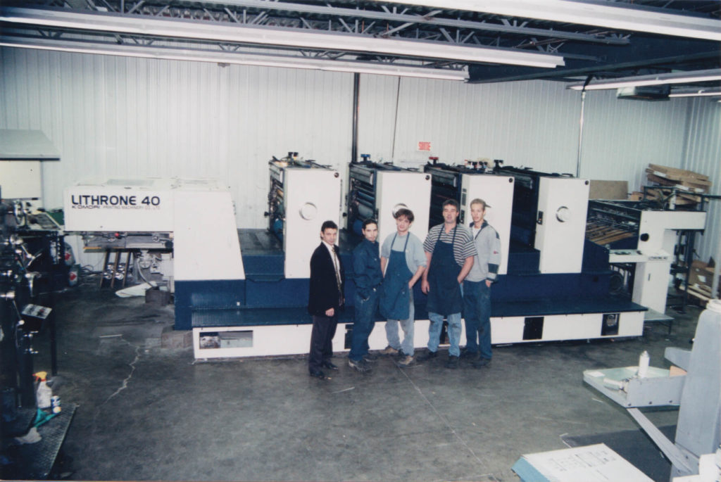 Acquisition of the Komori Lithrone 40 press